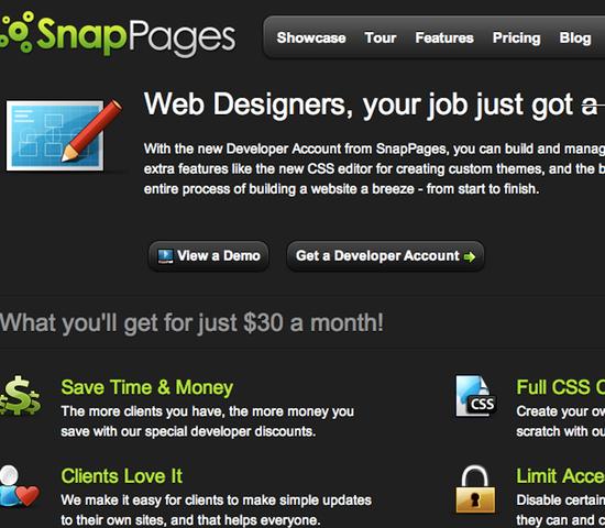 SnapPages Developer Program Login