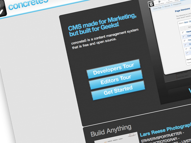 Concrete5 uses a business model, similar to Wordpress and Drupalgardens. But the product is quite different.