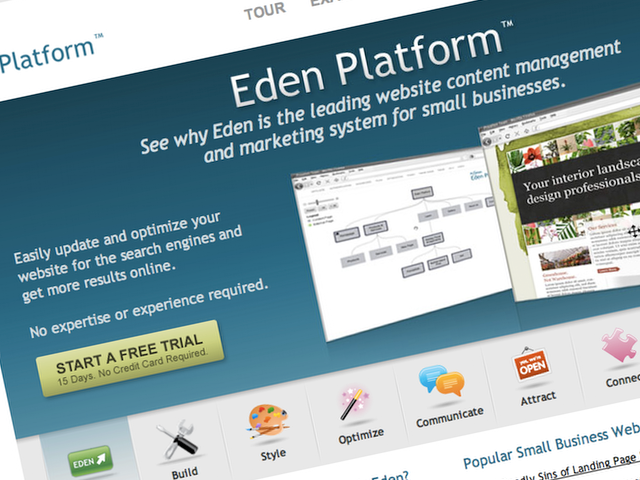 Eden Platform aims at small businesses, but it hard to see how they would use it.