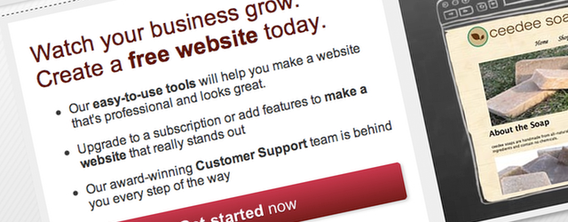 Yola offers a straight-forward, easy to use, basic sitebuilder, with no-frills customisation options. The set of introductory questions will help those who are uncertain about what should be on their website to get started.