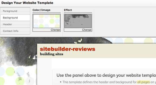 Intuit Biz Sites Template Editor