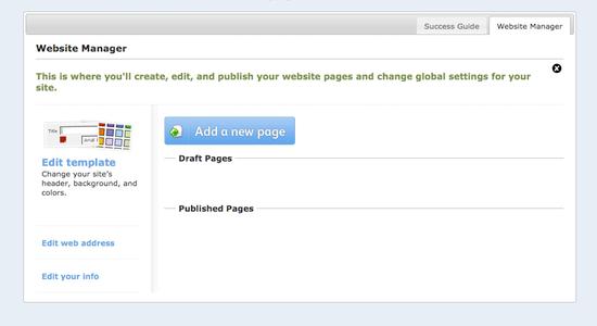 Intuit Biz Site Website Manager