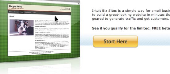 Intuit Biz Sites Beta Start Here