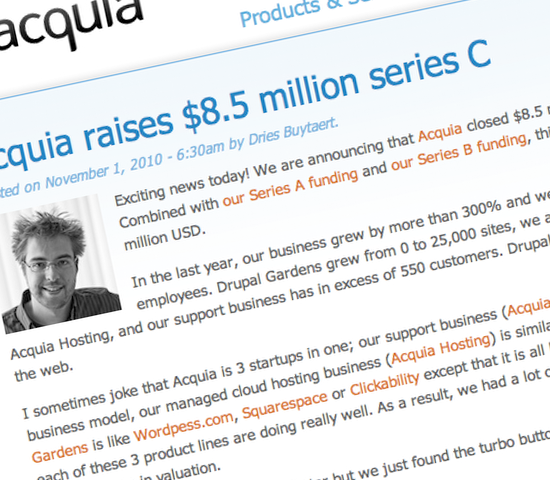 Acquia Raises $8.5 Million