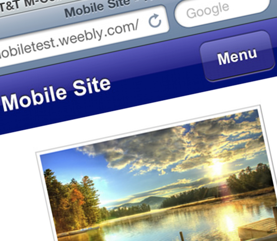 Weebly Mobile