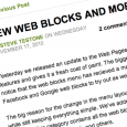 Flash-based website builder SnapPages released a number of new Web Blocks and updates this week.