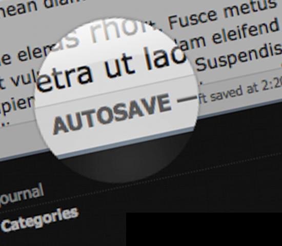 SquareSpace Introduces Autosave