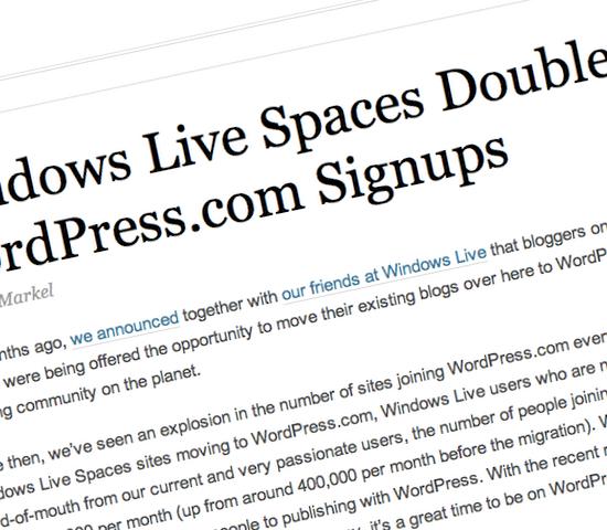 WordPress.com Signups Double
