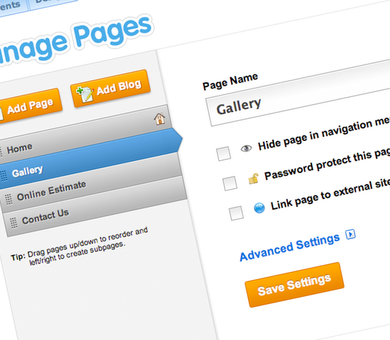 Weebly Pages Management Update