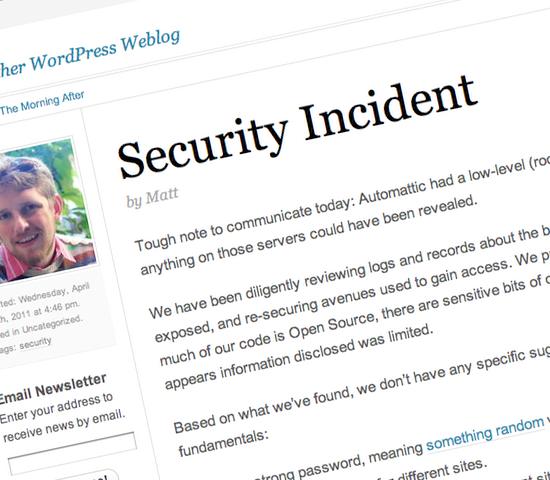 WordPress Security Incident
