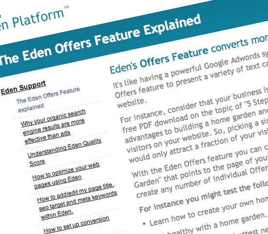 Eden Platform announced A-B testing tool under the name of Offers.