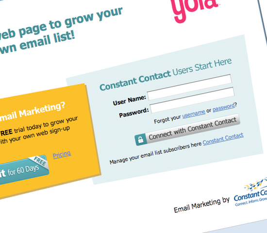 Yola announced its new mailing list widget, adding yet another third-party monthly tax to the cost of ownership of a Yola-based business website.