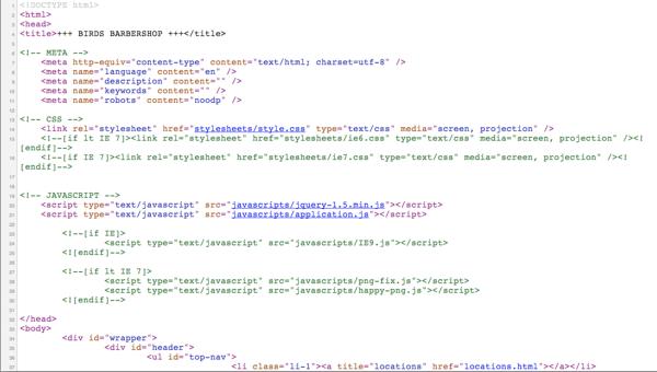 Birds Barbershop HTML Code